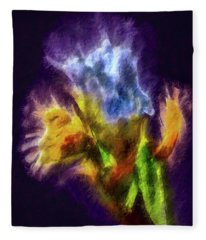 White Lily Bud #i0 Fleece Blanket