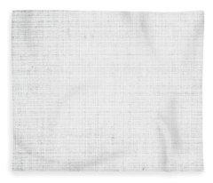 White Linen Fleece Blanket