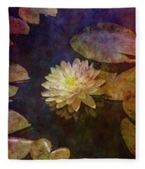 White Lotus Lily Pond 2938 Idp_2 Fleece Blanket