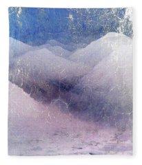 White Mountains Abstract Fleece Blanket