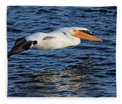 White Pelican Cruising Fleece Blanket