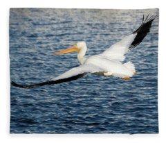 White Pelican Wingspan Fleece Blanket