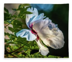 White Petals #i4 Fleece Blanket