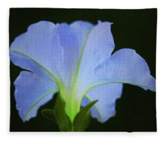 White Petunia Fleece Blanket