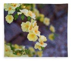 White Rose - Loving Gently- By Omaste Witkowski Fleece Blanket