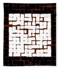 White Square 17x17 Fleece Blanket
