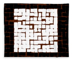 White Square 17x17 Fleece Blanket