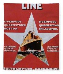 White Star Line Poster 2 Fleece Blanket