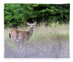 White Tale Deer Fleece Blanket