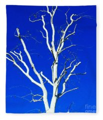 White Tree Fleece Blanket