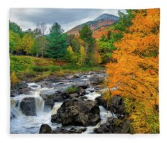 Whiteface Mountain And The Ausable River Fleece Blanket
