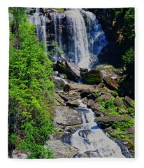 Whitewater Falls Top Fleece Blanket