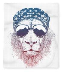 Wild Lion II Fleece Blanket