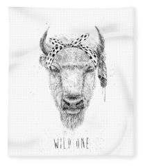 Wild One  Fleece Blanket
