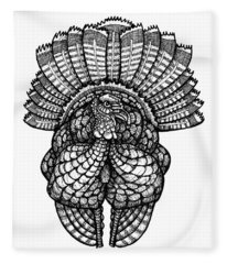 Wild Turkey Fleece Blanket