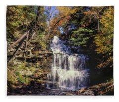 Wild Waterfall Fleece Blanket