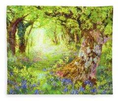 Wisconsin Landscape Fleece Blankets
