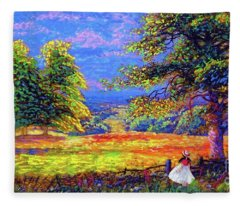 Wildflower Fields Fleece Blanket