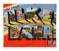 Wilkes Barre Greetings Fleece Blanket