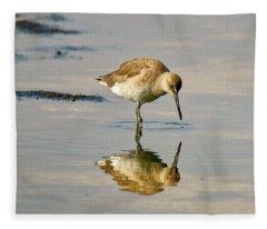 Willet Sees Its Reflection Fleece Blanket