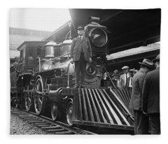 William Crooks 4-4-0 Steam Locomotive Fleece Blanket