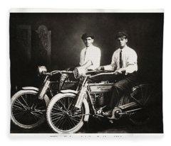 William Harley And Arthur Davidson 1914 Fleece Blanket