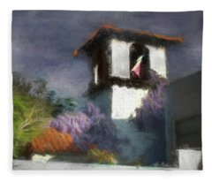 Wind In The Tower Washline Fleece Blanket