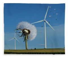 Wind Power Fleece Blanket