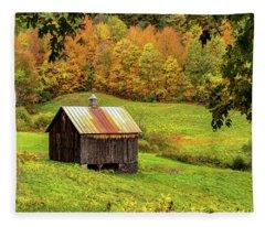 Window Into Autumn Fleece Blanket