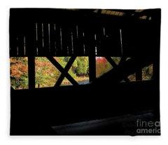Window To Fall Fleece Blanket