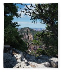 Window View Fleece Blanket