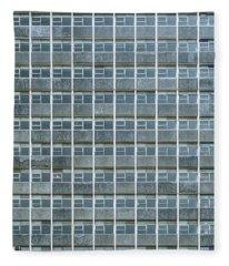 Windows Pattern Modern Architecture Fleece Blanket