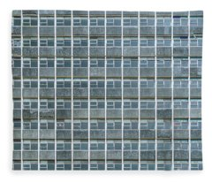 Windows Pattern Modern Architecture Fleece Blanket