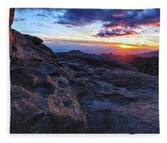 Windy Point Sunset Fleece Blanket