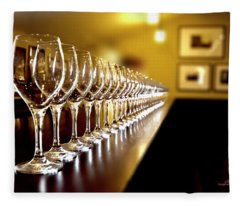 Wine Tasting Fleece Blanket