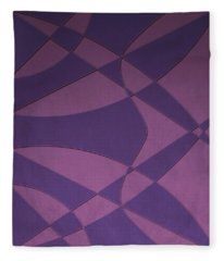Wings And Sails - Purple And Pink Fleece Blanket