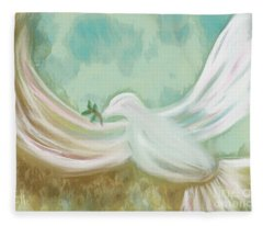 Wings Of Peace Fleece Blanket