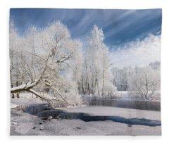 Winter Afternoon Fleece Blanket
