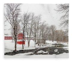 Winter At Fallbrook Fleece Blanket