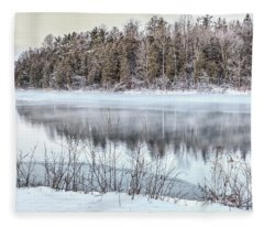 Winter At Green Lakes Fleece Blanket