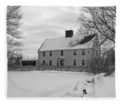Winter At Noyes House Fleece Blanket