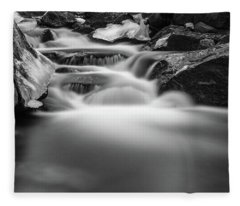 Winter At The Ilse, Harz Fleece Blanket
