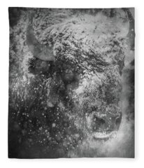Winter Bison Fleece Blanket
