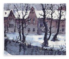 Winter Bruges Fleece Blanket