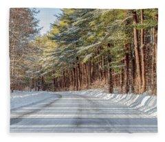Winter Drive Fleece Blanket