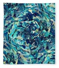 Winter Floral Fleece Blanket