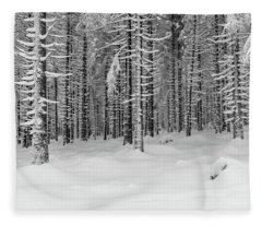 winter forest, Harz Fleece Blanket