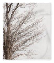 Winter Hoarfrost Fleece Blanket