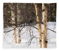 Winter In Canada Fleece Blanket