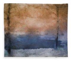 Fleece Blanket featuring the photograph Winter Landscape  by Andrea Kollo